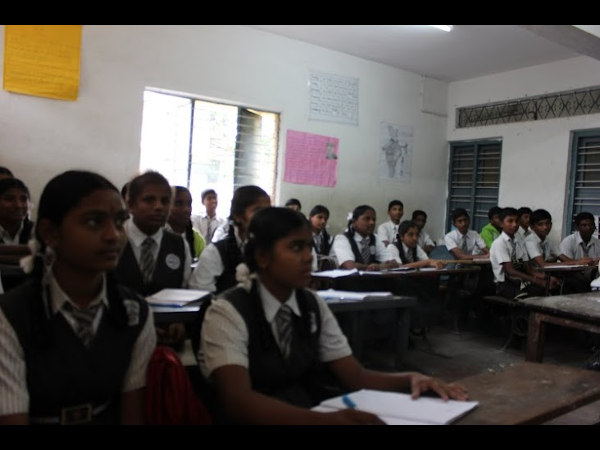 Students at the school in their regular classes