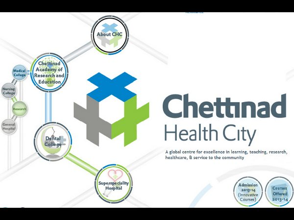 MD, MS Admission at Chettinad Health City