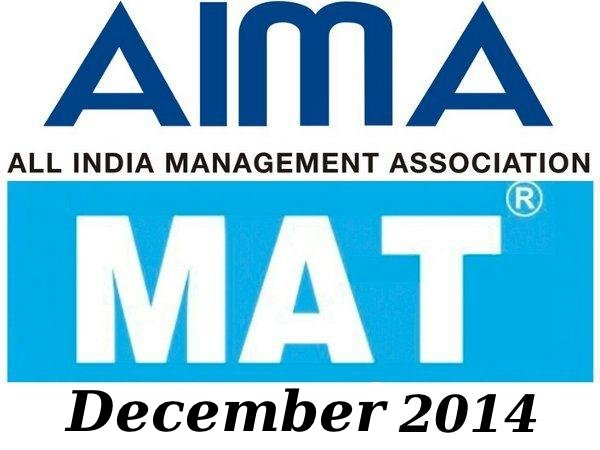 MAT December 2014 results are out
