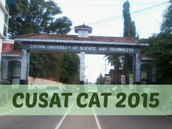 CUSAT CAT 2015 Online Registration Procedure