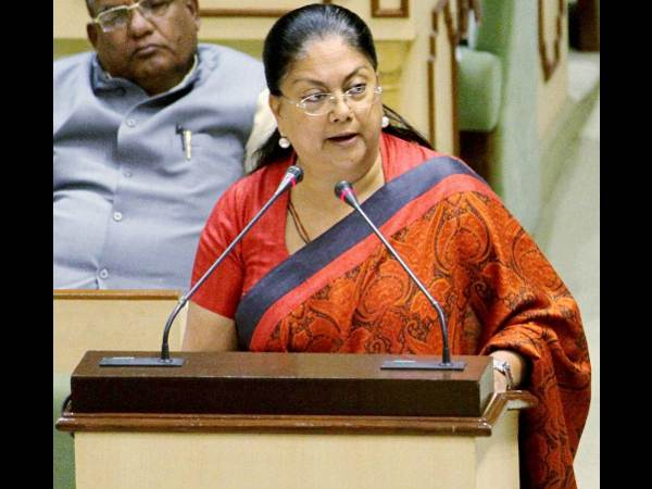 Rajasthan CM Vasundhara Raje encourages students