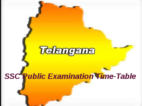 Telangana SSC Public Examinations Time-Table