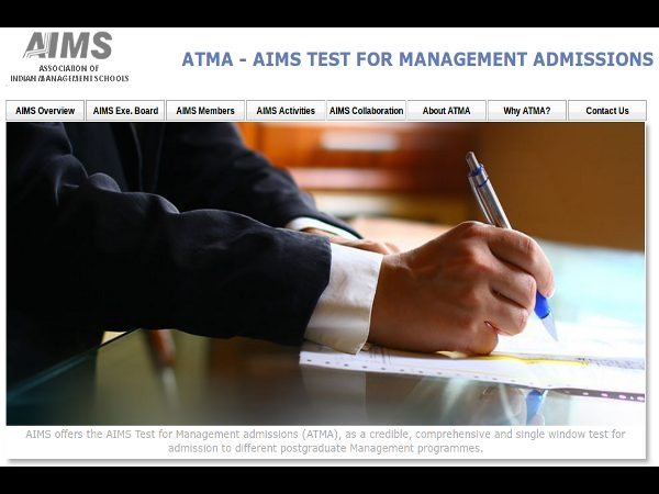 ATMA-2015 Exam Dates