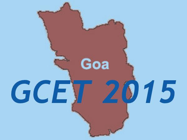 GCET 2015 Important Dates