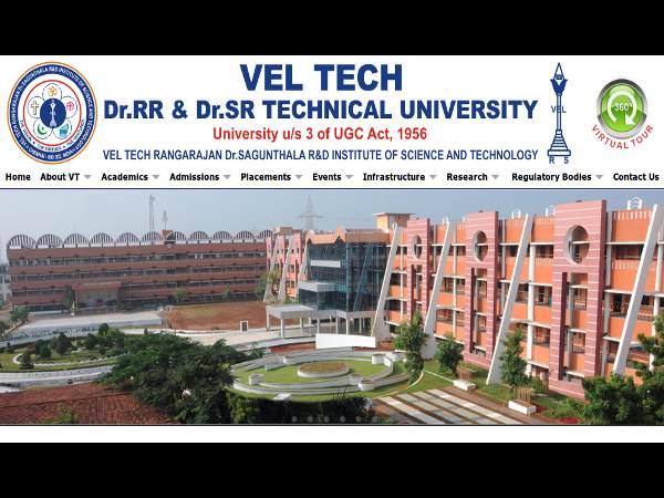 Vel Tech Univ offers B.Tech Programme Admissions