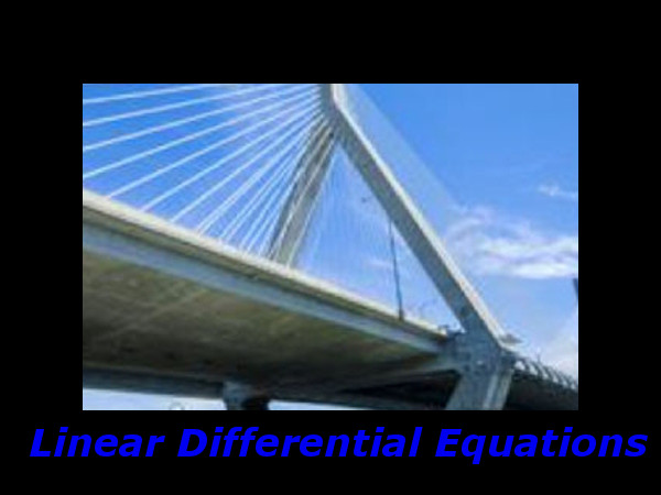 Linear Differential Equations: Online course