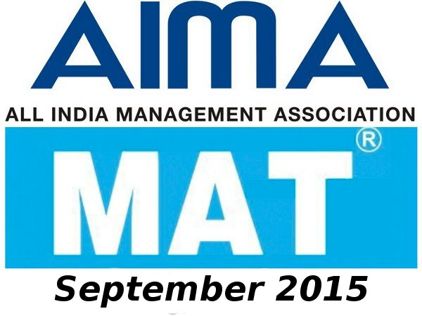 MAT September 2015 Exam Dates Announced