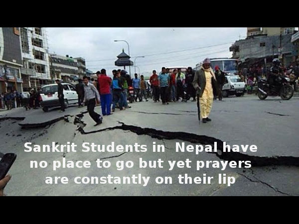 Nowhere to go but prayers on lips: Nepal Students