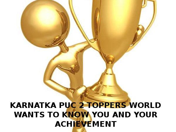 Karnataka PUC 2 Toppers: Can Appear on Careerindia