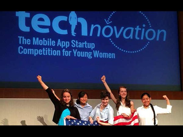 Bengaluru 5 girls won technovation contest in US