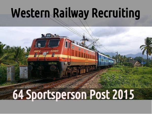 Western Railway Recruiting 64 Sportsperson Post 20