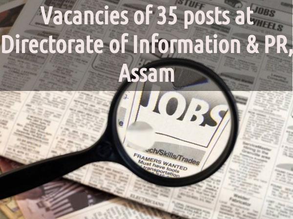 Directorate of Information & PR, Assam Recruting