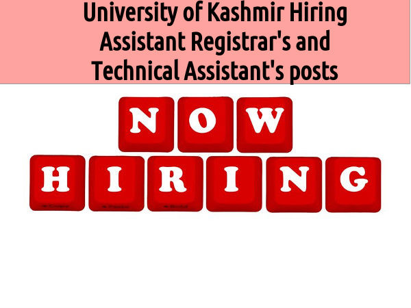 Vacanies at University of Kashmir