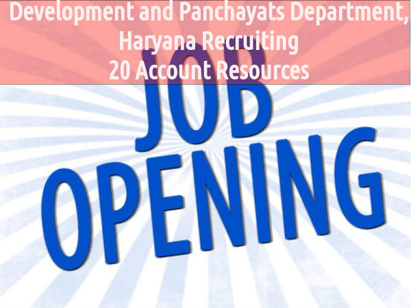 Vacanies at Development and Panchayats Department