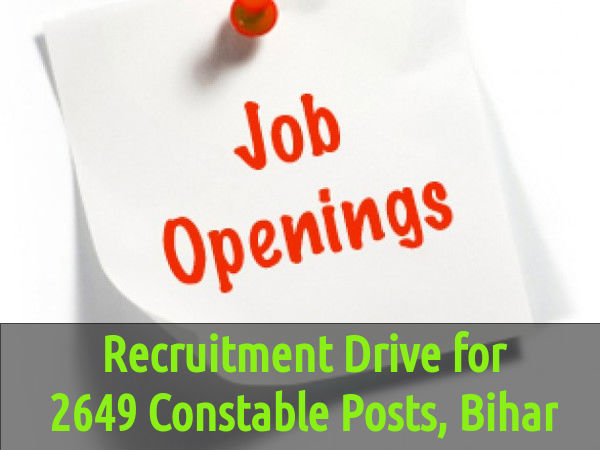 Vacancies of 2649 Constable Posts at CSBC, Bihar