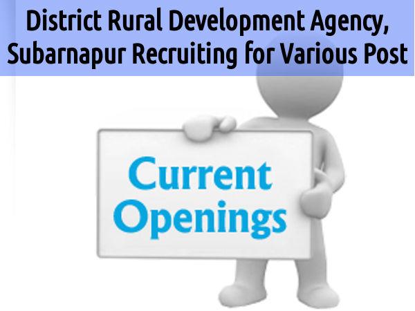 Jobs @ District Rural Development Agency, Odisha