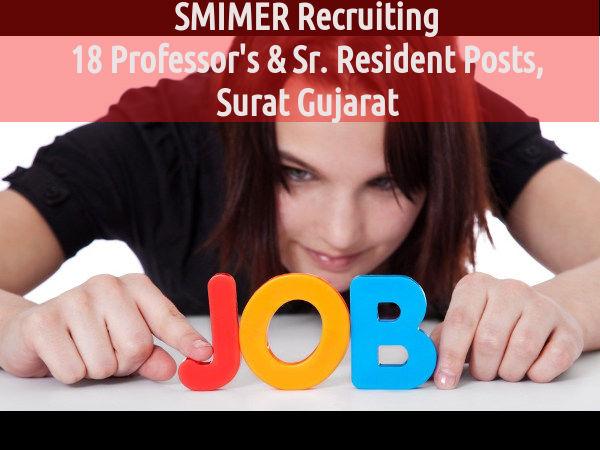 SMIMER Recruiting 18 Professor's & Sr. Resident