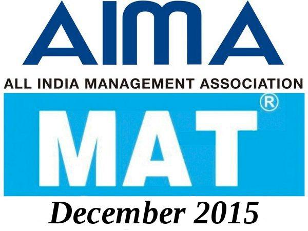 MAT December 2015 Exam Dates Announced