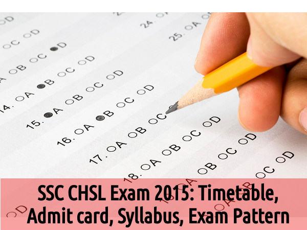 SSC CHSL Exam 2015 to Start from November 1
