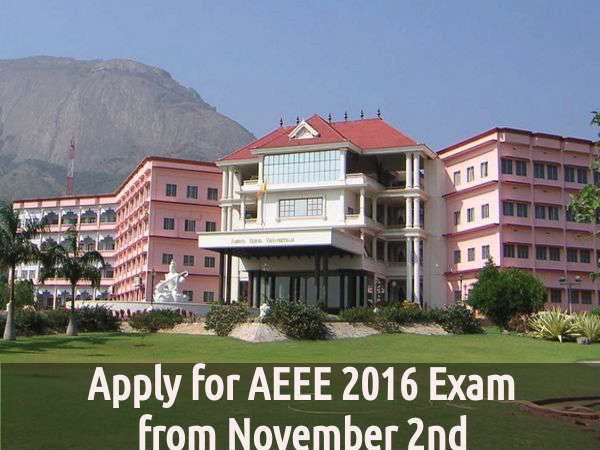 Apply for AEEE 2016 Exam from November 2nd