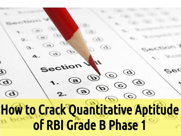 How to Crack Quantitative Aptitude of RBI Grade B