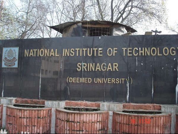 NIT Srinagar offers admissions in Ph.D programs