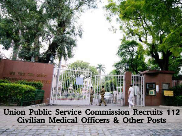 UPSC Hiring for 112 Posts 2016