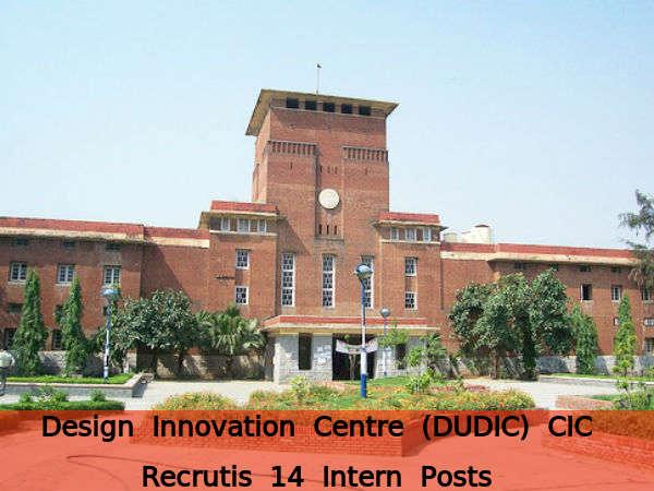 DUDIC CIC, DU Recruits 14 Intern Posts
