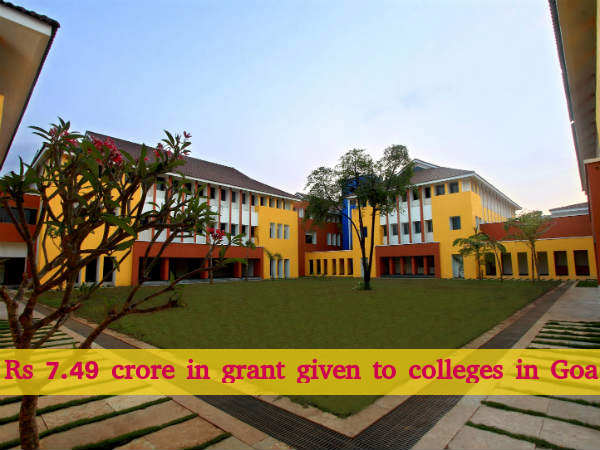 Rs 7.49 Crore in Grant given to Colleges in Goa