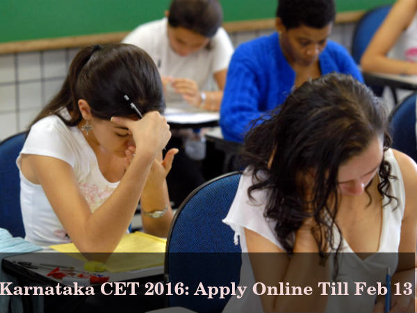 Karnataka CET 2016: Apply till Feb 13