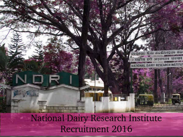 NDRI Recruits 56 Technician & Technical Asst Posts