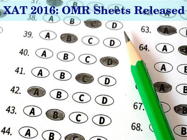 XAT 2016: OMR Sheet Released