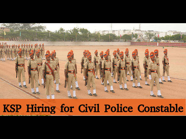 KSP Recruits 1952 Civil Police Constable Posts