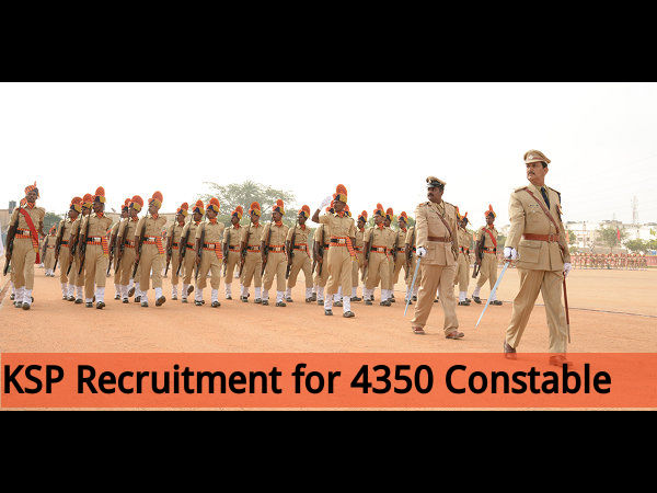 KSP Recruits 4350 Constable (Men & Women) Posts