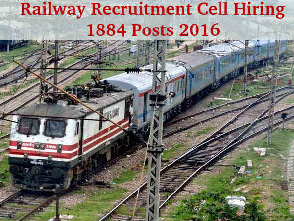 RRC Recruitment for 1884 Posts 2016