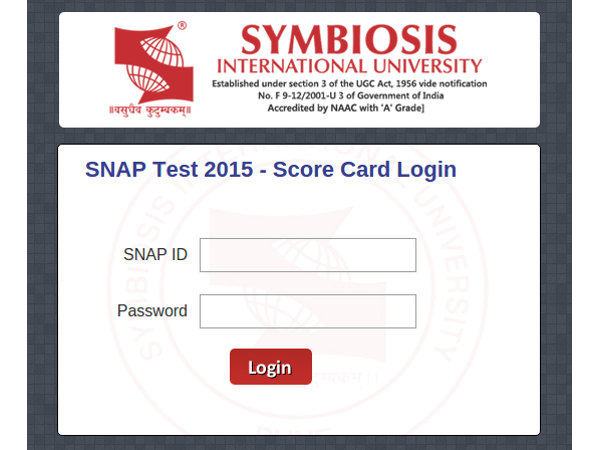 SNAP 2015 Results Announced
