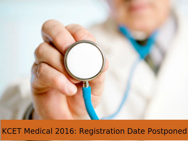 KCET Medical 2016: Registration Date Postponed
