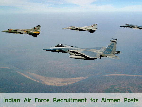 Indian Air Force Recruitment for Airmen Posts