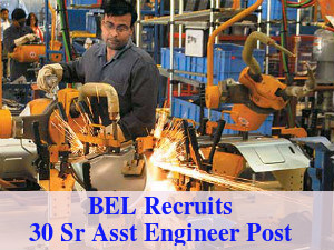 BEL Recruits 30 Sr Assistant Engineer Post 2016