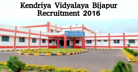 KV Bijapur Recruitment for Various Teaching Posts