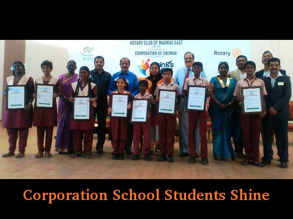 Corporation School Students of Chennai Shine