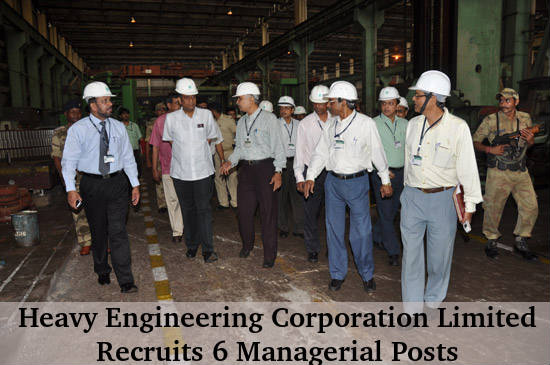 HECL Recruitment for 6 Managerial Posts 2016