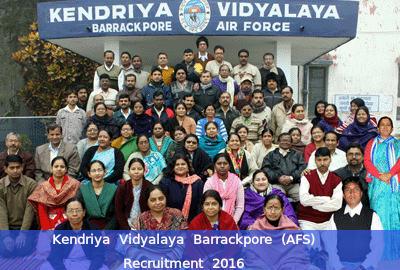 Kendriya Vidyalaya Barrackpore (AFS) Recruitment