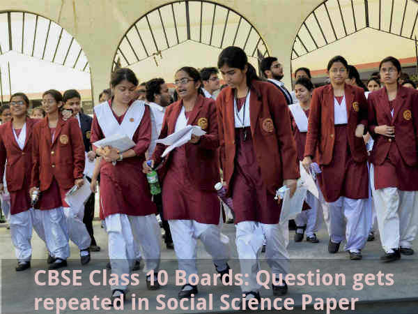 CBSE Class 10 Boards: Question gets repeated
