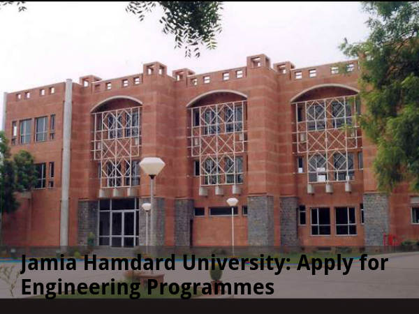 Jamia Hamdard Univ Opens Admissions
