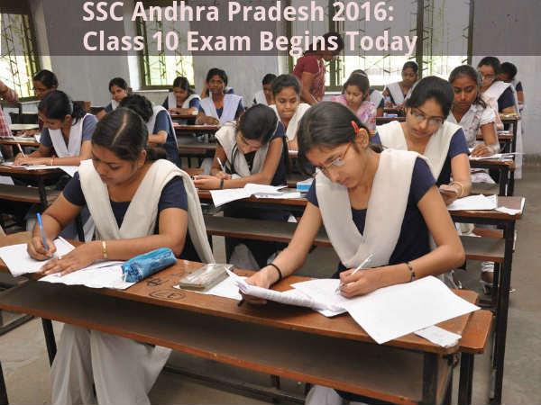 SSC Andhra Pradesh 2016: Class 10 Exam Begins