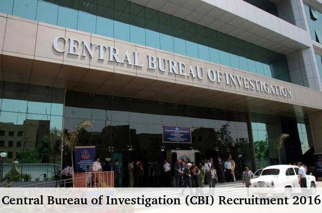 CBI is Hiring 74 Inspector Posts 2016