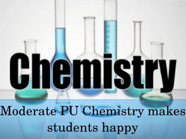 Chemistry paper analysis karnataka 2nd pu board exam careerindia chemistry paper analysis malvernweather Choice Image