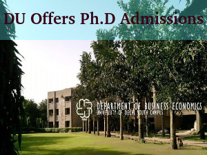 Delhi University Offers Admissions to Ph.D