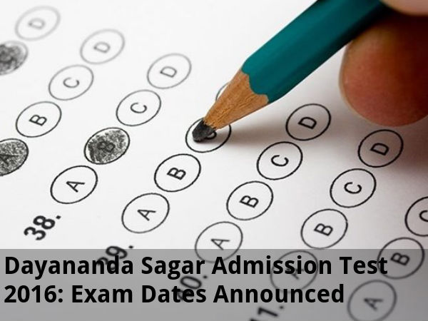 DSAT 2016: Exam Dates Announced